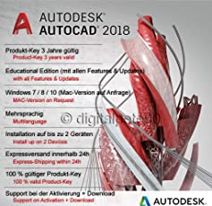 Autodesk AutoCAD 2018 | Digitale Lizenz / 3 Jahre | Windows | Expressversand 24h