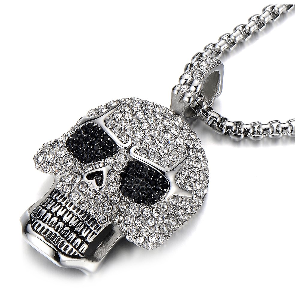new handmade pin skull dead gold jewelry day pendant the sugar of necklace