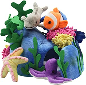 The Puppet Company Hide-Away Puppets Under The Sea Finger Puppet Set