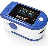 Pulsoximeter PULOX PO-200 Solo in blauw vingerpulsoximeter voor het meten van de hartslag en zuurstofverzadiging op de vinger