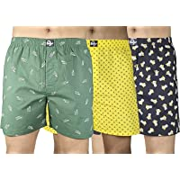 0-Degree Cotton Boxers for Men Combo Pack of 1 Pack of 2 Pack of 3