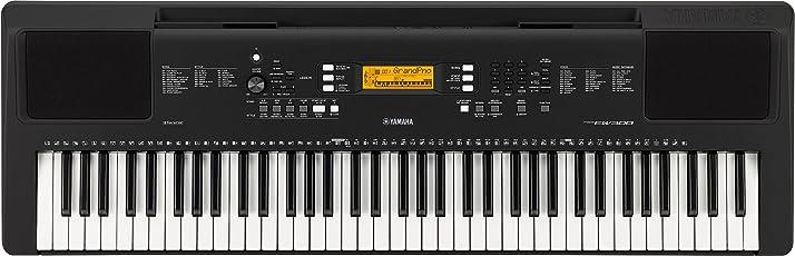 Yamaha PSR-EW300 76keys USB Black MIDI keyboard - MIDI Keyboards (76 keys, Buttons, Rotary, USB, 1152 mm, 369 mm, 118 mm)