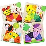 XDDIAS Puzzles de Madera Educativos, Juguetes Montessori para Bebé niños 1 2 3 4 5 6 años, Preescolar Juguetes Regalos, Regal