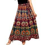 FrionKandy Women's Maxi Skirt (SHKD1012, Multicolour, Free Size)