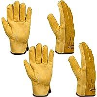 Thorn Proof Garden Gloves, Xndryan 2 Pairs Breathable Flexible Gardening Gloves for Men Women, Heavy Duty Safety Leather…