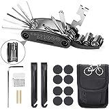 Etercycle Fiets Tool Kit, 16 in 1 multifunctioneel fietsenreparatietool, mountainbike reparatiegereedschap met patchkit en ba