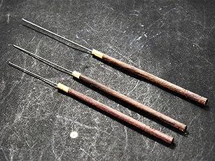 The Design Cart Stainless Steel Aari Needles Set for Beading Work (50 mm) for Silk,Zari, Knitting Purpose - Pack of 5 (TDNP000003, Brown)