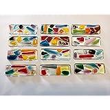 Porte-couteaux - art de la table - déco- repose baguette - pose - couvert- original - de verre et de couleurs