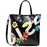 Desigual Womens PU Shopping Bag, Black, U