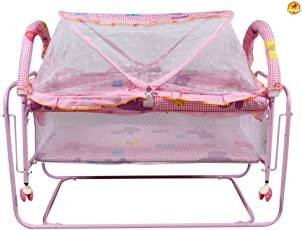 GoodLuck Baybee New Born Baby Comfortable Swing Cradle for Kids | Suitable for Boys & Girls - (Pink)