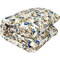 Zylish Beautiful Multi Floral Designs Reversible AC Blanket | Dohar | Quilt for Home (Multi_01, Double Bed)