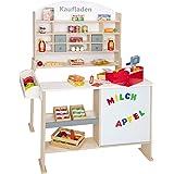 Beluga Spielwaren 30862 - Kaufladen aus Holz in Natur/ Weiss