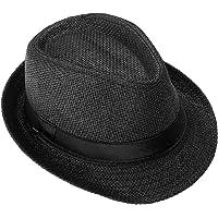 FALETO - Cappello di paglia da uomo e donna, estivo, unisex, colore: Nero/Beige/Bianco/Cachi