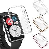 FITA 3-pack skärmskydd kompatibelt med HUAWEI Watch Fit, [Full täckning] [Hög klarhet] [Touch Friendly] TPU fodral skydd skär