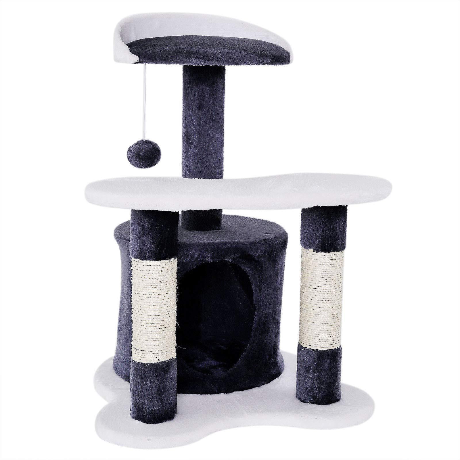 Dibea KB00350 Rascador para Gatos, 133 Cm, Árbol Escalador Arañar Juguete Beige