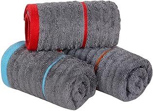 AKIN 100% Cotton, Zero Twist, Premium Quality, 40x60cm, 3 Piece Hand Towel - 650 GSM