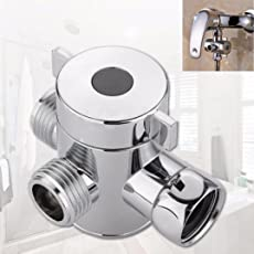 Generic IGEMY 1/2inch 3 Way T-adapter Head Diverter Valve for Toilet Bidet Shower (Silver)