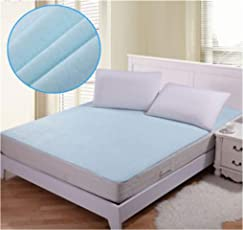 SANSEZZ™ Latest Home Waterproof Hypoallergenic Mattress Protector for King Size Bed(Blue, 72x78-inch)