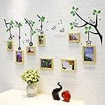 Artzfolio Wall Photo Frame Natural Brown 4X6-4Pc;5X7-4Pc;Set of 8 Pcs