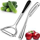 Pelapatate Professionale Pelapatate Acciaio Inox 2 Pezzi per Mele Frutta Cibo Carota Verdura Cetriolo Set Pelapatate Sharp No