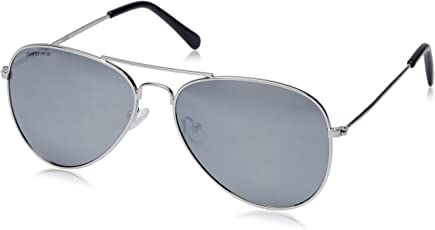 Fastrack UV protected Aviator unisex Sunglasses (M138BK4 58 Silver Mirror)