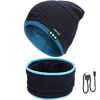 FY Cappello Bluetooth V5.0 Berretto Musicale e Scaldacollo per Uomo e Donna Lavorato a Maglia Beanie con Altoparlanti…