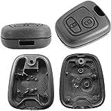 Coque de clé télécommande 2 boutons Peugeot 106 107 206 207 208 407 806 Citroën C1 C2 C3 C4 C5 Xsara Picasso Saxo Saxo Toyota
