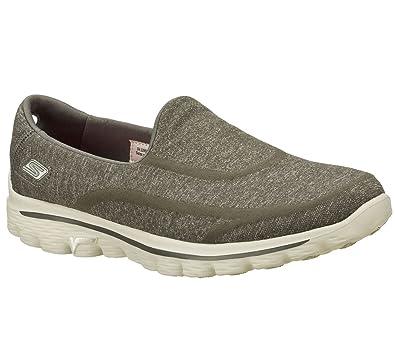 aec39bbc5bb Skechers Go Walk 2 Super Sock Women s Low-Top Sneakers  Amazon.co.uk  Shoes    Bags