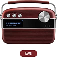 Saregama Carvaan Tamil SC03 Portable Digital Music Player (Cherrywood Red)