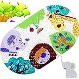 Afufu Alfombrilla de Bañera para Niños, Alfombra Baño Infantil con Ventosas Fuertes, Esteras de Bañera Antideslizantes Seguri