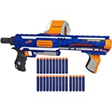 Nerf N-Strike Rampage Elite Toy Blaster With 25 Dart Drum Slam Fire And 25 Official Elite Foam Darts For Kids, Teens, And Adu