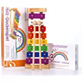 Harmonisches Xylophon für Kinder aus Holz – Glockenspiel mit Notenbuch und Holz-Schlägeln – Musikinstrument ab 3 Jahren mit wundervollen Klängen von SCHMETTERLINE®