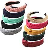 Haquno Headbands for Women 10 Packs Fabric Hair Band Accessories Elastic Head Wrap Cute Outdoor Hair Accessories