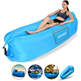 SHENKEY Inflatable Lounger, 2021 Upgrade Waterproof Anti-Air Leaking Air Sofa with Portable Package, Inflatable Couch…