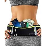 Riñonera Running para correr, impermeable, para entrenamiento, viajes y más, con tiras reflectantes y orificio para auricular