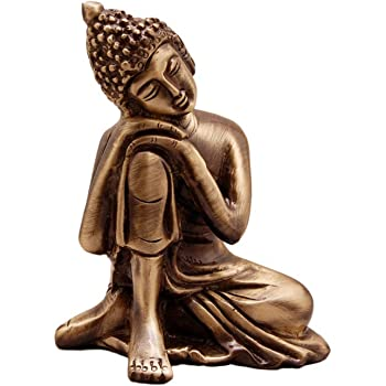 eCraftIndia Metal Resting Buddha on Knee