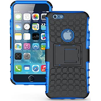 Tough Hybrid Armour Shockproof Hard PC + TPU with Kick Stand Rugged Back Case Cover for Apple iPhone 6/6s/6g