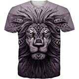Funnycokid Mens T Shirts Print Unisex Short Sleeve Summer Tee Shirt
