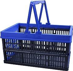 Einkaufskorb 16L mit Henkel klappbar Kiste Box Einkaufskiste Einkaufsbox