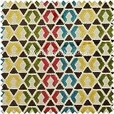 Designer geometrisch Moderne Muster Bunt Lebendig blau