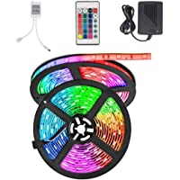 Dreamlux® Waterproof Wireless Remote LED Strip RGB with 24Key Remote and 6A Adapter (Multicolour, 5050) Decoration…