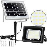 Solar Strahler CLY Solarlampe Außen 60 Verbesserte LED für Hohe Helligkeit 4000mAh Batterie Solarpanel Licht Gesteuert IP66 Wasserdicht Solarbetriebene Außenleuchte für Rasen Garten(MEHRWEG)