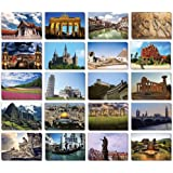 Travel Postcards - 40-Pack Around The World Ansichtkaarten, Postkaarten Bulk, 20 verschillende ontwerpen, 10 x 15 centimeter