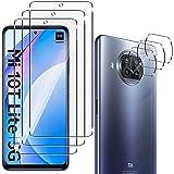 QULLOO Pellicola Protettiva per Xiaomi Mi 10T Lite 5G [3 Pezzi] + Pellicola Fotocamera [3 Pezzi], 9H Durezza HD Chiaro Pellic