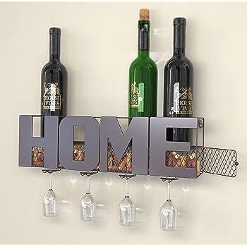 Tresbro Wine Rack Bamboo Wine Bottle Holder Free Standing Cabinet Countertop Tabletop Wine Rack for Wine Storage and Display 4-Bottles