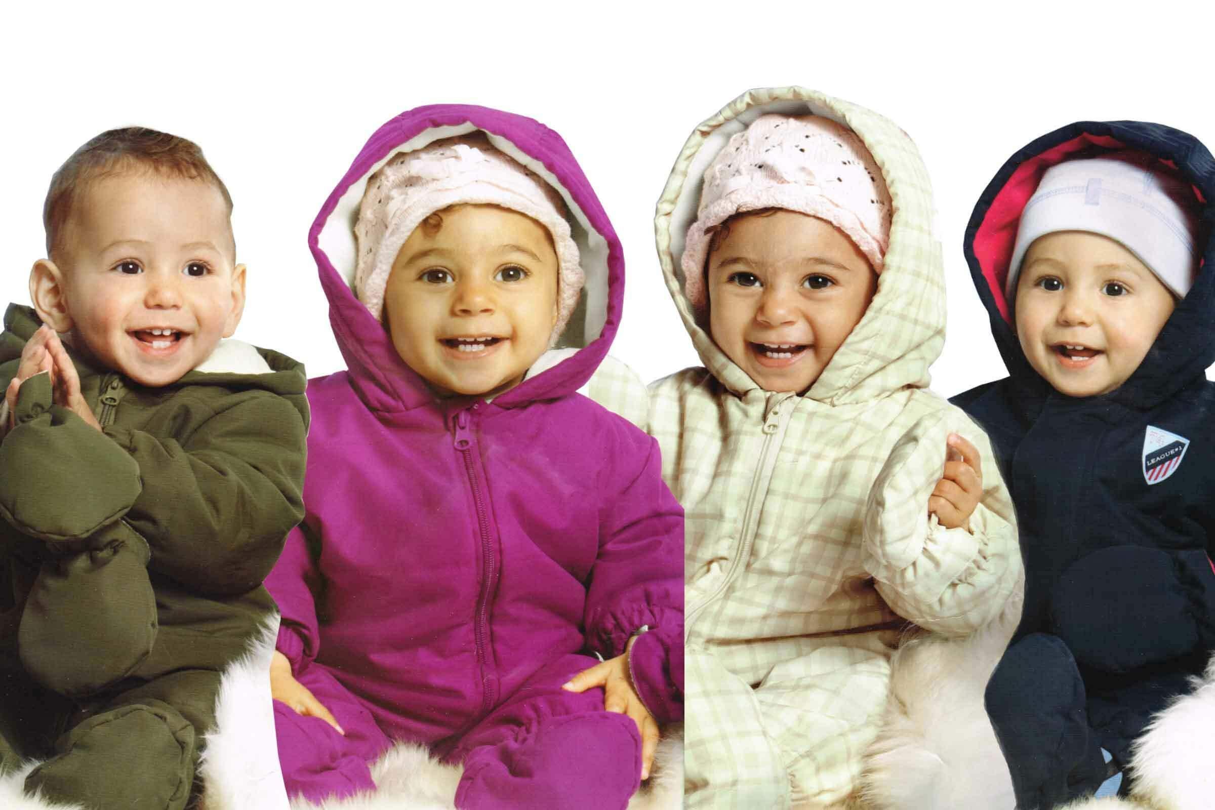 lupilu® Baby Winteroverall mit Kapuze für Jungen Mädchen Schneeanzug