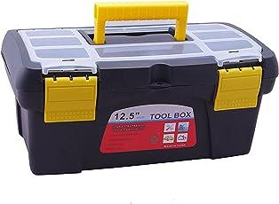 Novicz 1223 Plastic Tool Box with Organizer (Multicolor)