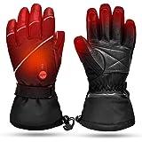 Guanti Riscaldati per Uomo Donna,Batteria Ricaricabile Elettronica Guanti di Riscaldamento Moto da Guida,Sci Caccia Pesca Gui
