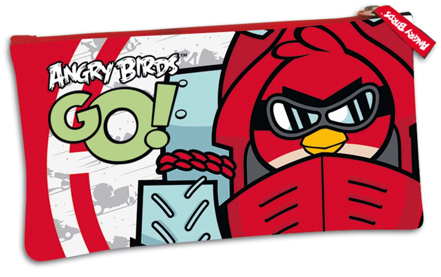 Montichelvo – Portatodo plano con diseño de Angry Birds, 22 x 12 cm (40323)