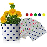 TrustBasket Set of 10 Premium colourfull Dotted Grow Bags (20*20*35 cms)